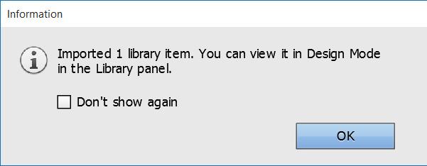 Installing Muse widget - Widget installation complete
