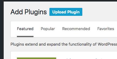 Upload New Plugin to WordPress
