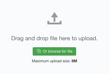 Drag and Drop file Template Archive