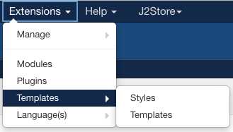 Joomla Template Installing Templates Manager