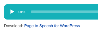 Speaker WordPress Plugin Download link