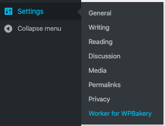 Worker Business Hours addons for WPBakery in the WordPress sidebar