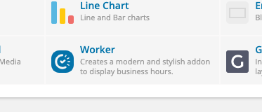 Worker WPBakery addon on the Content tab