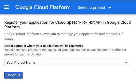 Register your application